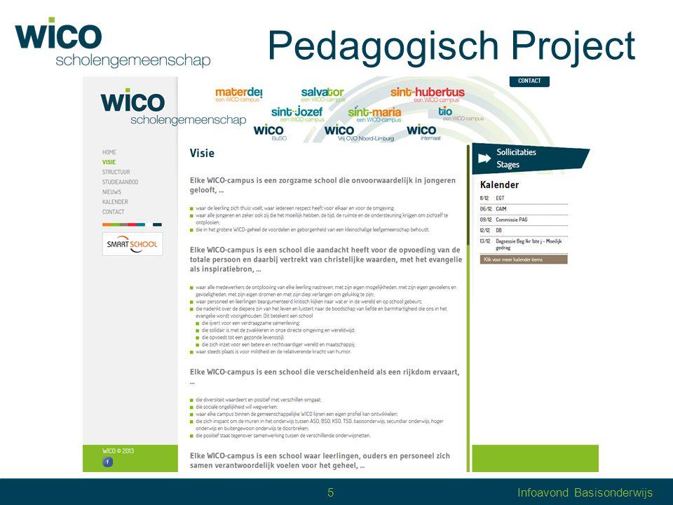 Pedagogisch Project 5Infoavond Basisonderwijs