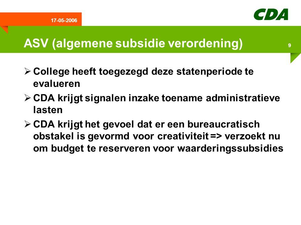 17-05-2006 10 Conclusie/afronding  CDA pleit voor een bestuur dat zich kenmerkt door:  Flexibiliteit  Creativiteit  Dynamische uitstraling  CDA ziet volop mogelijkheden om Drenthe verder te ontwikkelen  College is op sommige terreinen wat te bescheiden geweest  Komend jaar het werk afmaken  Heeft u nog vragen ????