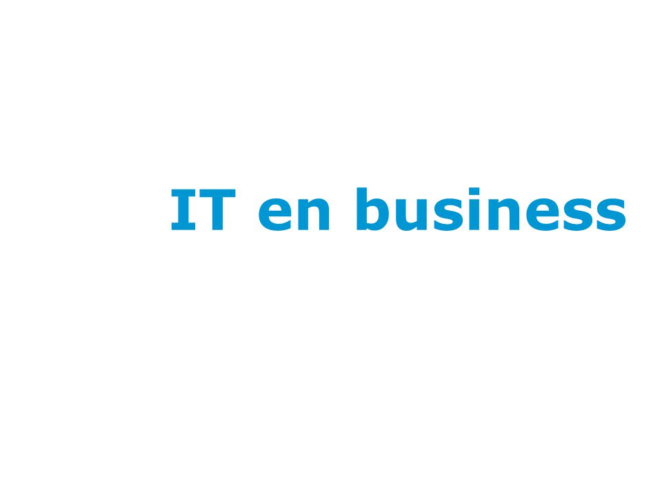 IT en business