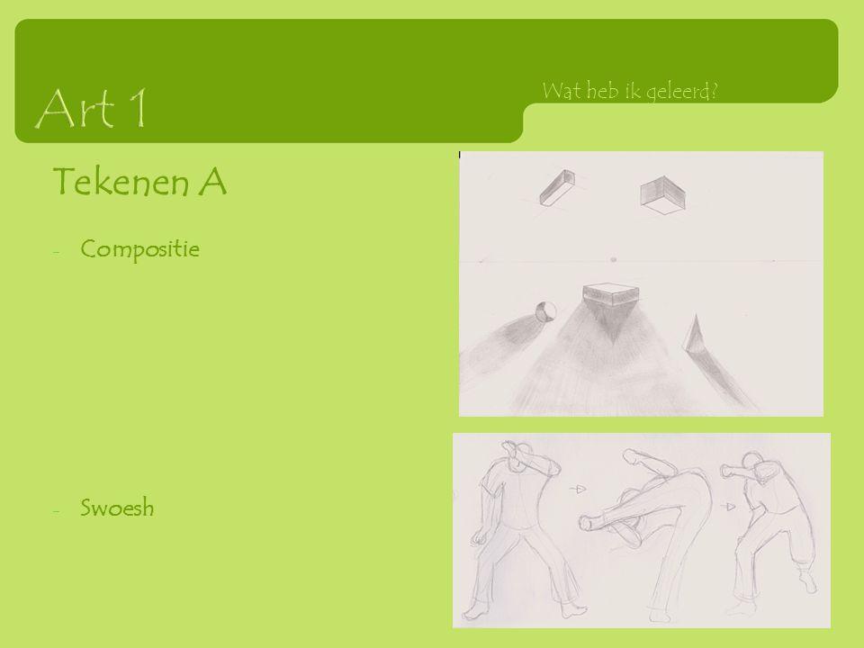 Tekenen A - Compositie - Swoesh Wat heb ik geleerd?