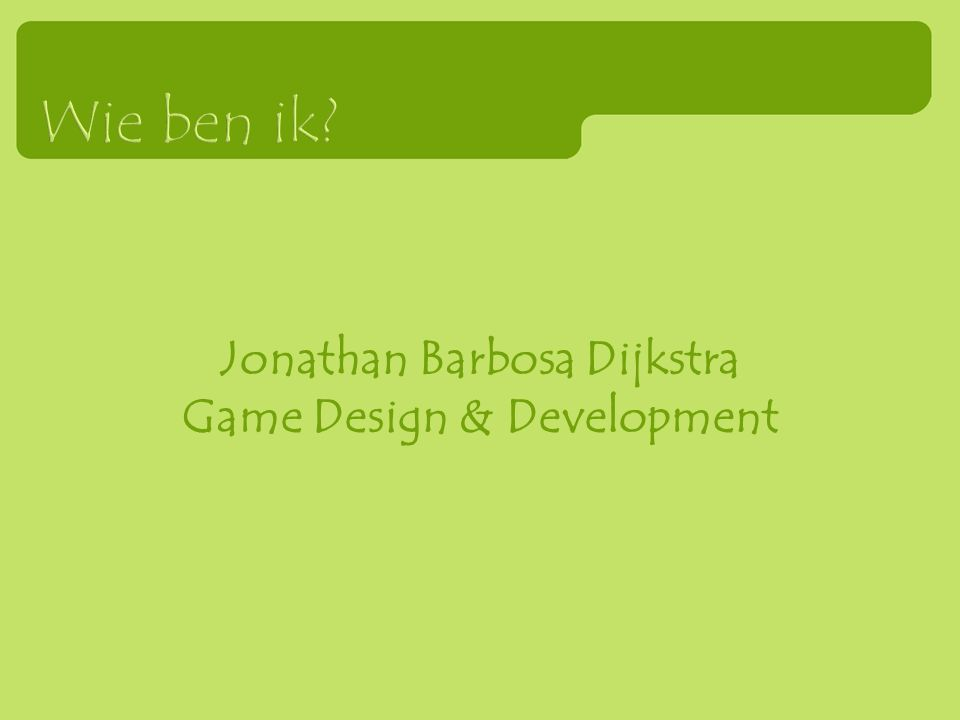 Jonathan Barbosa Dijkstra Game Design & Development