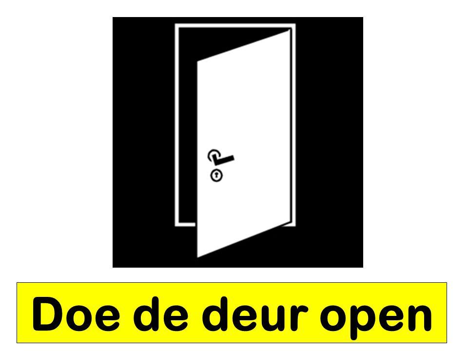 Doe de deur open