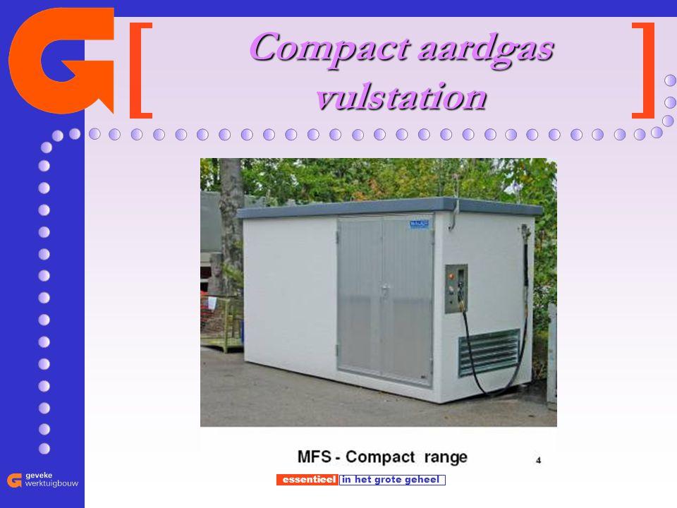 essentieel in het grote geheel Compact aardgas vulstation