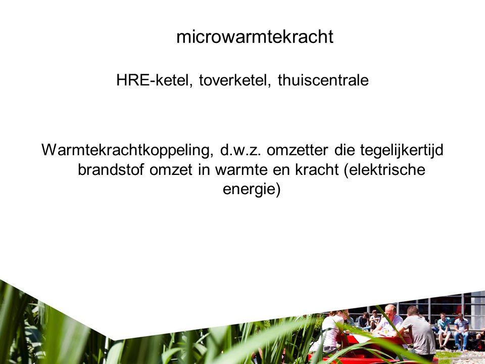 microwarmtekracht HRE-ketel, toverketel, thuiscentrale Warmtekrachtkoppeling, d.w.z.