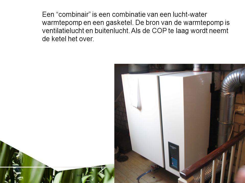 9 www.dem.isep.ipp.pt/ip2010 School name Een combinair is een combinatie van een lucht-water warmtepomp en een gasketel.