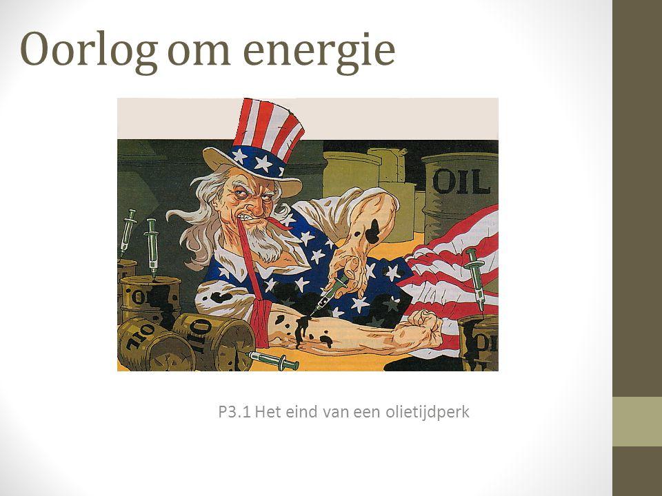 Oorlog om energie P3.1 Het eind van een olietijdperk