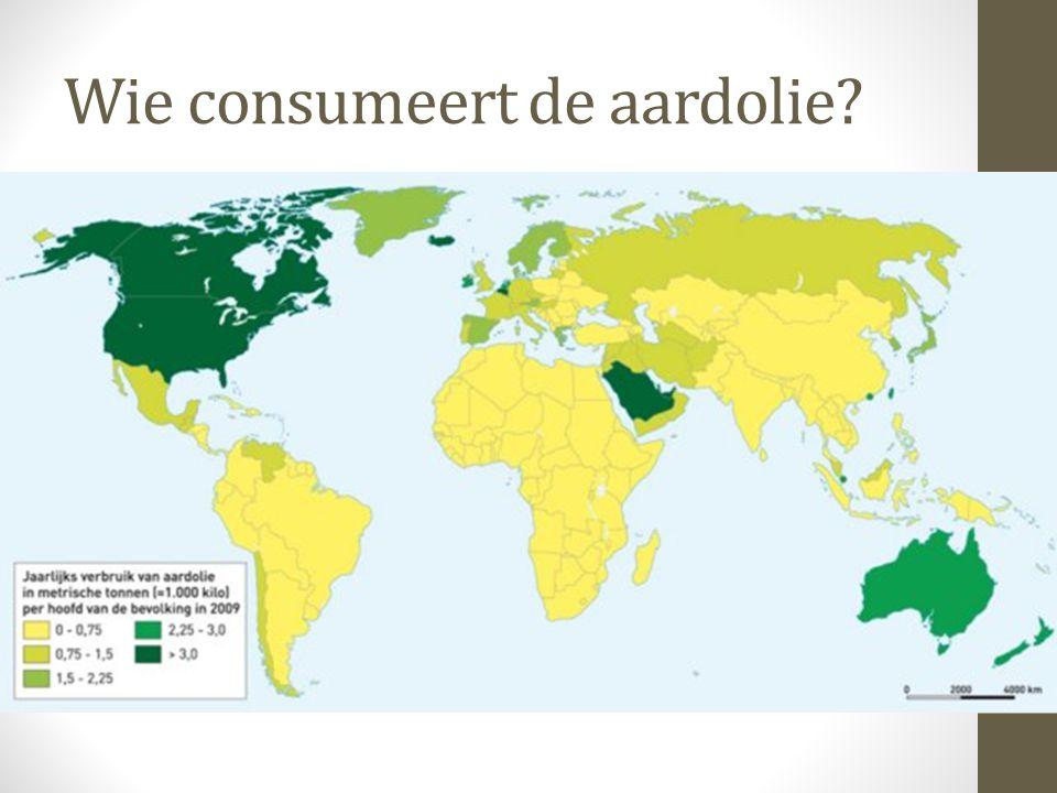 Wie consumeert de aardolie?