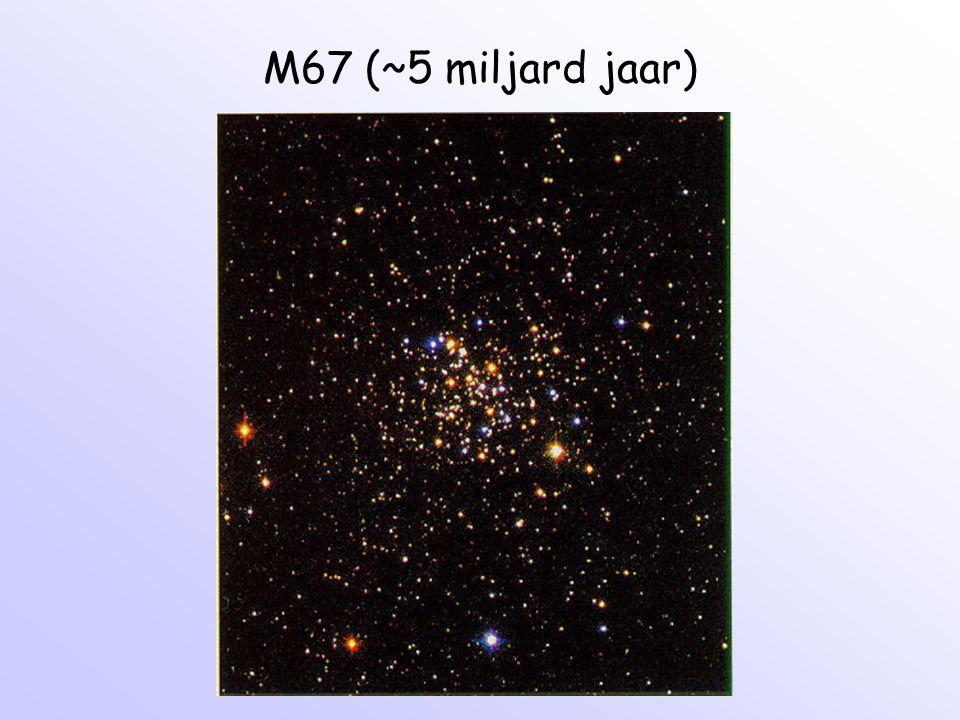 M67 (~5 miljard jaar)