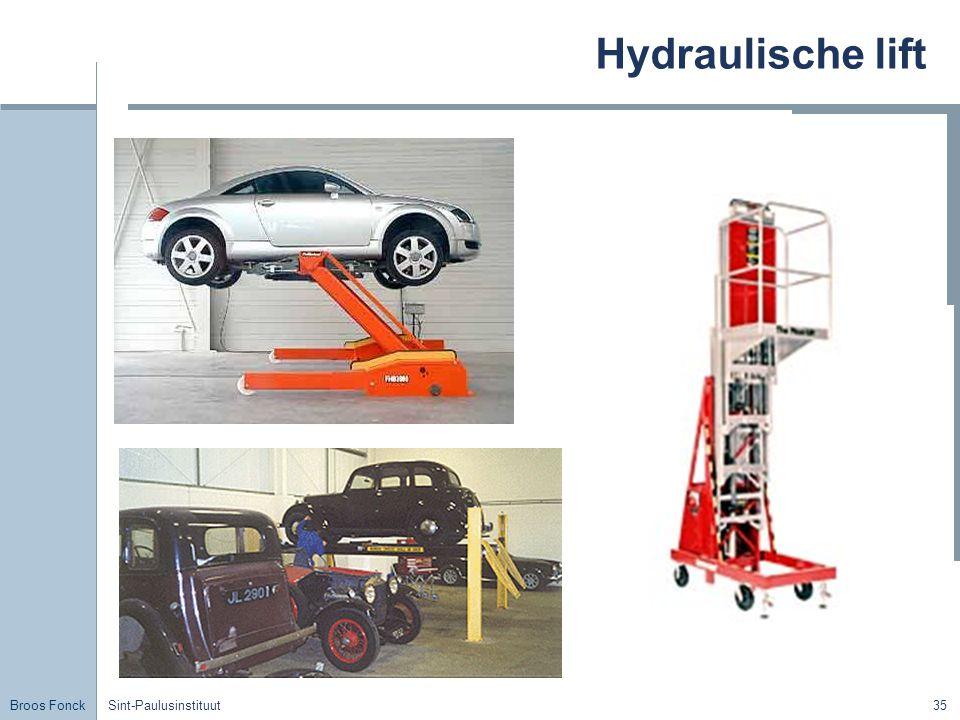 Broos Fonck Sint-Paulusinstituut35 Hydraulische lift