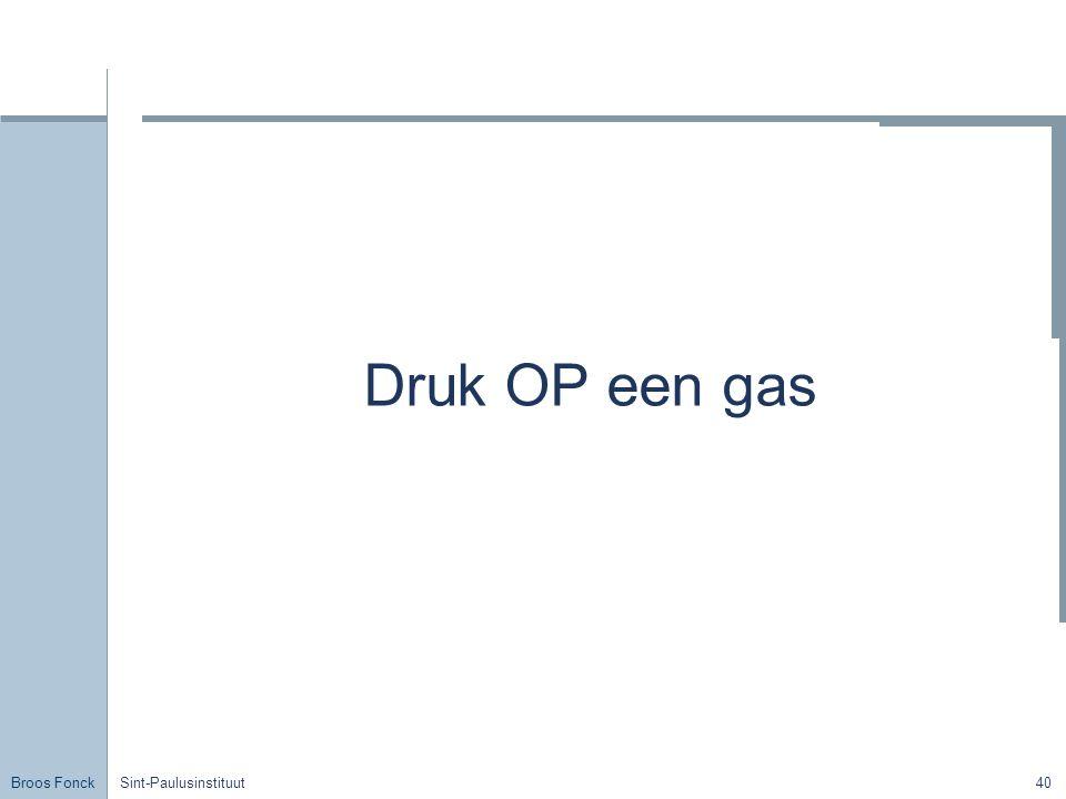 Broos Fonck Sint-Paulusinstituut40 Druk OP een gas