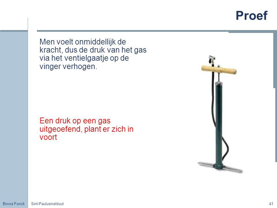 Broos Fonck Sint-Paulusinstituut41 Proef Men voelt onmiddellijk de kracht, dus de druk van het gas via het ventielgaatje op de vinger verhogen.
