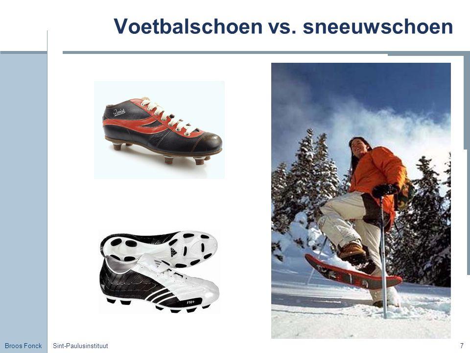 Broos Fonck Sint-Paulusinstituut7 Voetbalschoen vs. sneeuwschoen