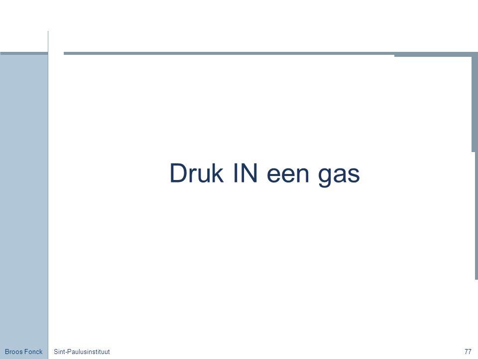 Broos Fonck Sint-Paulusinstituut77 Druk IN een gas