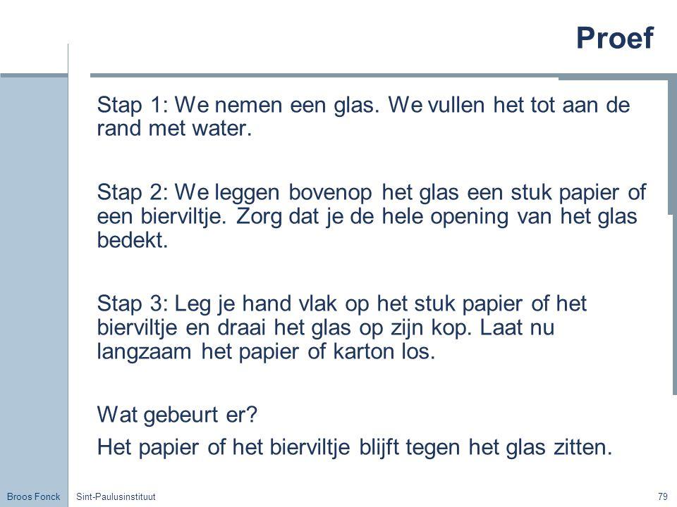 Broos Fonck Sint-Paulusinstituut79 Proef Stap 1: We nemen een glas.