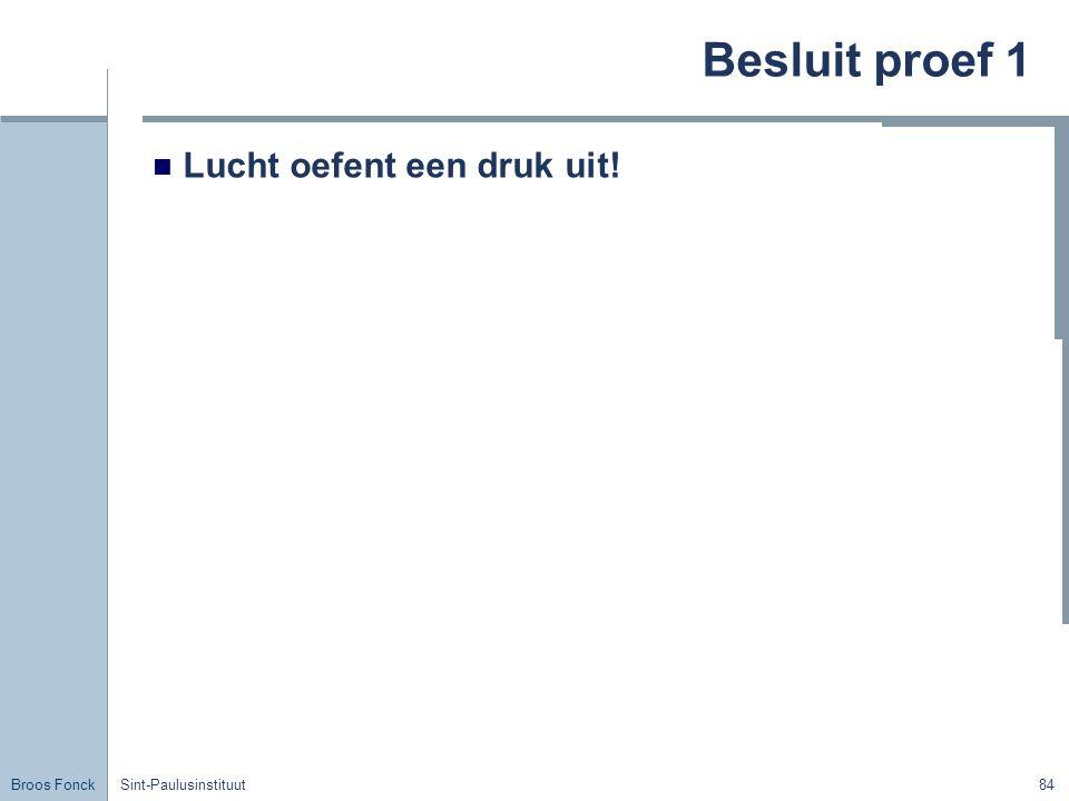 Broos Fonck Sint-Paulusinstituut84 Besluit proef 1 Lucht oefent een druk uit!