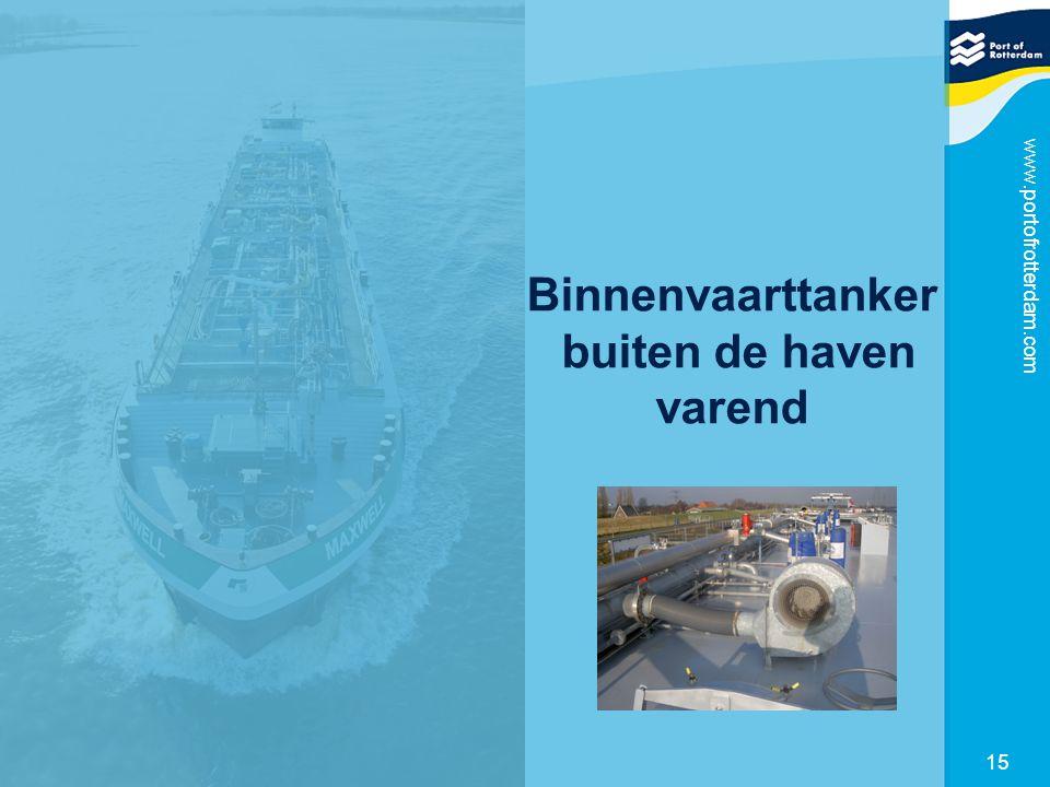 www.portofrotterdam.com 15 Binnenvaarttanker buiten de haven varend