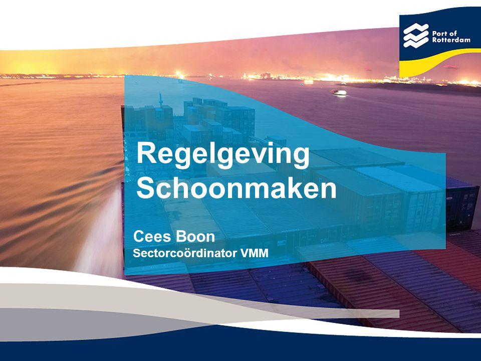 Regelgeving Schoonmaken Cees Boon Sectorcoördinator VMM