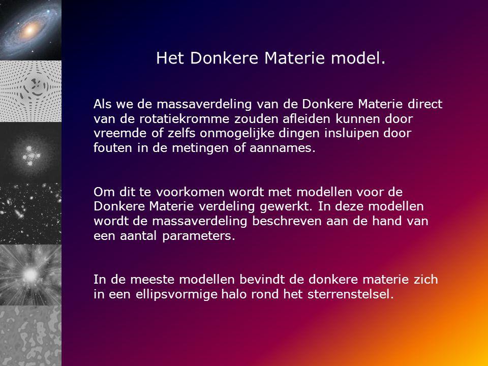 Het Donkere Materie model.