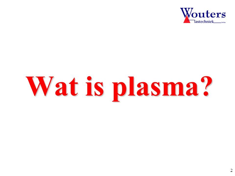 Start Wat is plasma