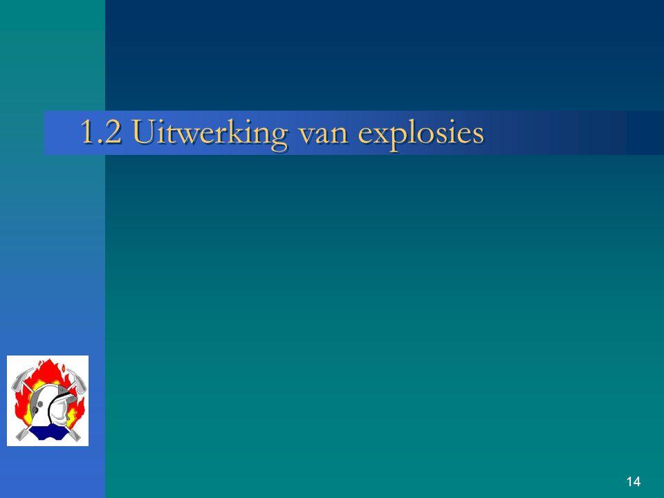 14 1.2 Uitwerking van explosies