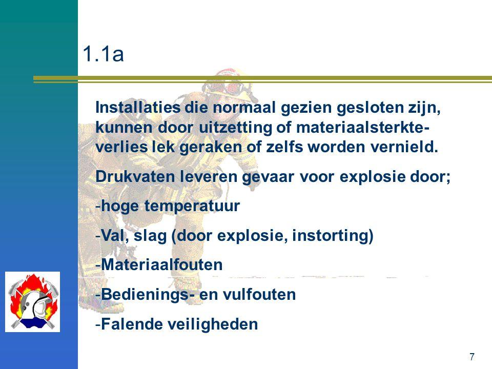 8 Vooral bij verhitting bestaat de kans op explosie van een drukvat.