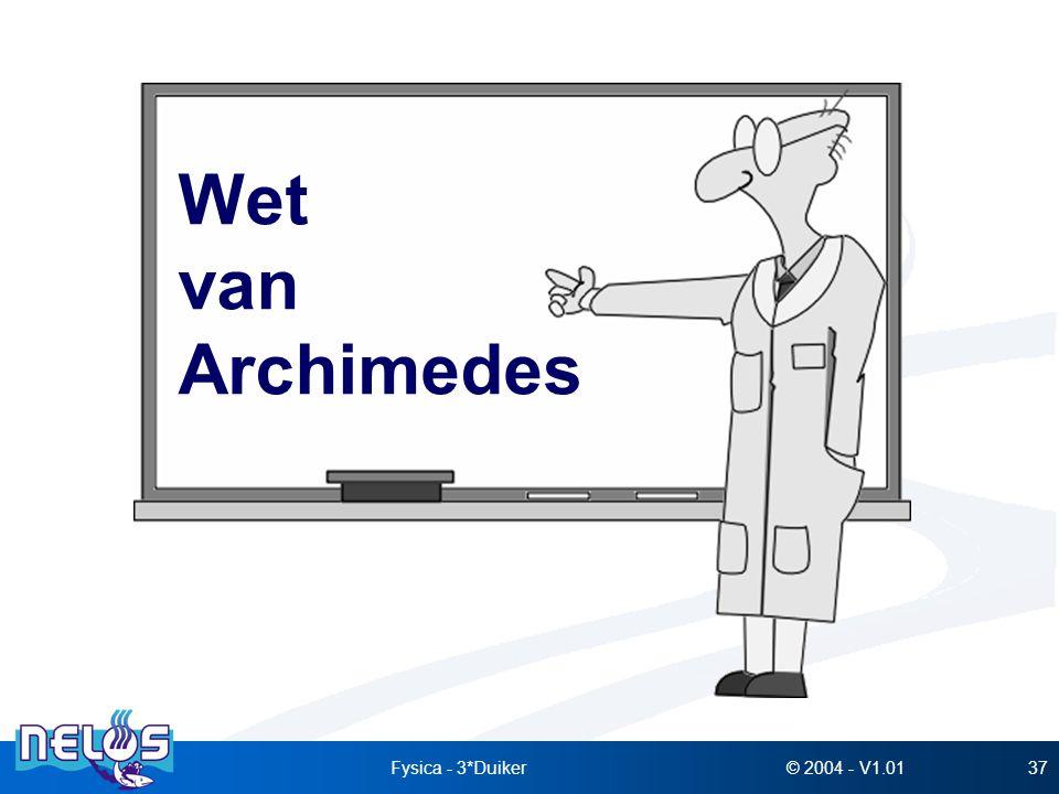 © 2004 - V1.01Fysica - 3*Duiker37 Wet van Archimedes
