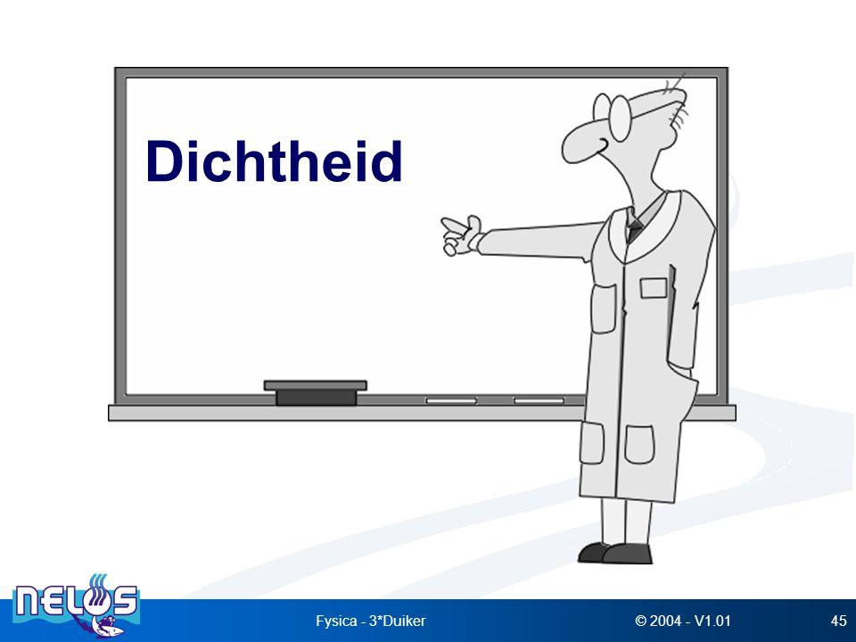 © 2004 - V1.01Fysica - 3*Duiker45 Dichtheid