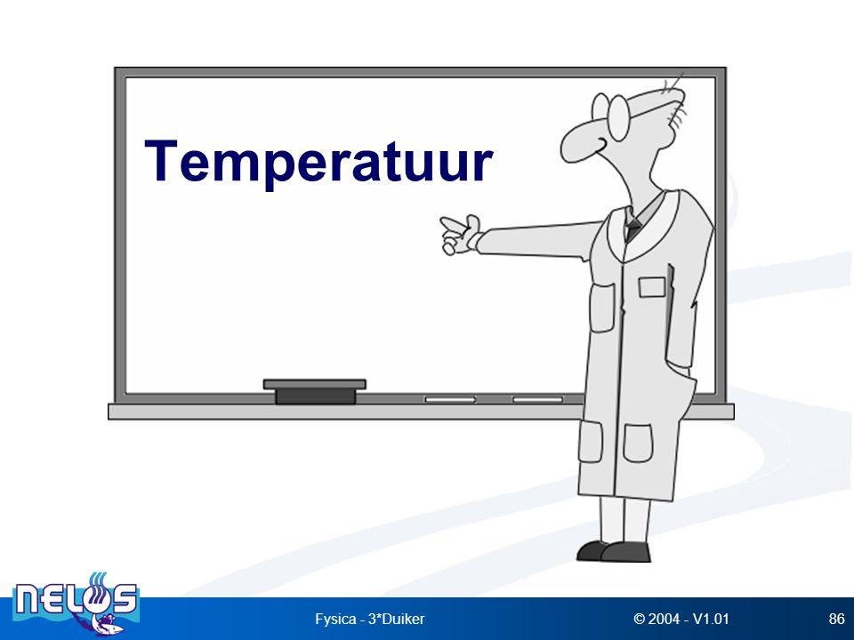 © 2004 - V1.01Fysica - 3*Duiker86 Temperatuur