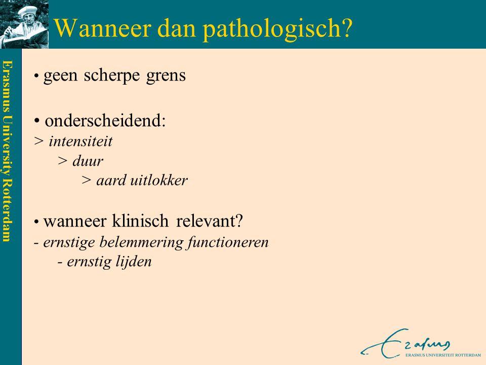 Erasmus University Rotterdam Welke angststoornissen zijn er (in de DSM-IV-TR).