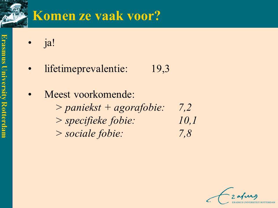 Erasmus University Rotterdam SOCIALE FOBIE A.