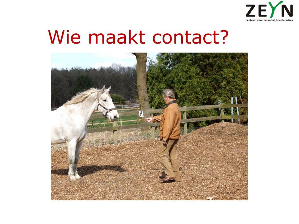 Wie maakt contact?