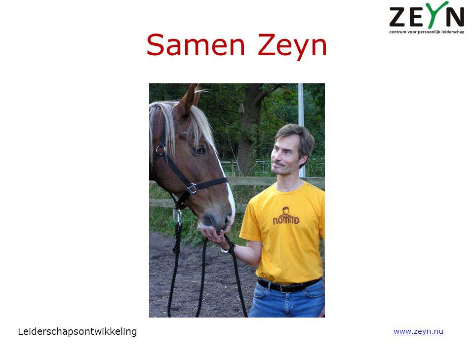 Samen Zeyn www.zeyn.nu Leiderschapsontwikkeling