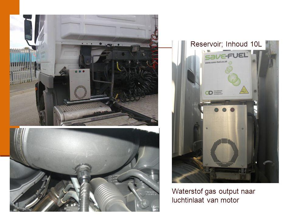 Reservoir; Inhoud 10L Waterstof gas output naar luchtinlaat van motor