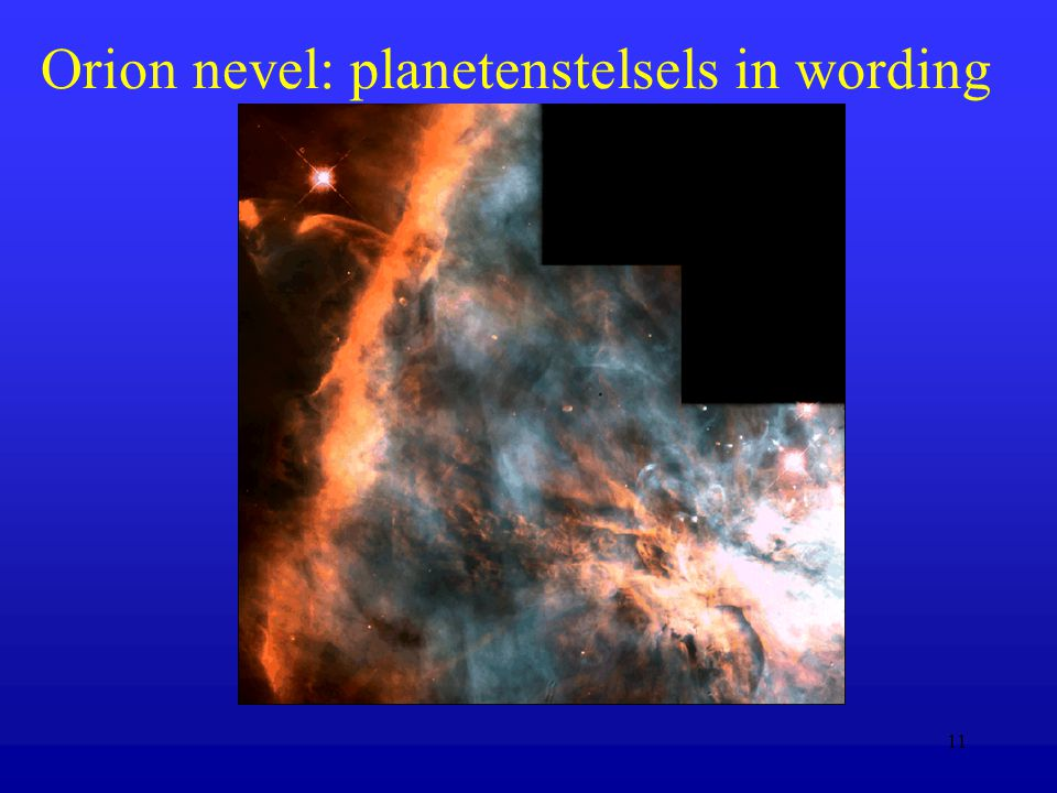 11 Orion nevel: planetenstelsels in wording