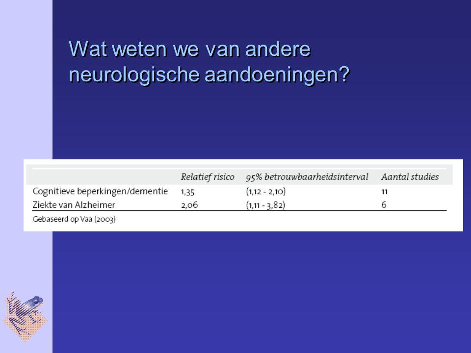Wat weten we van andere neurologische aandoeningen?