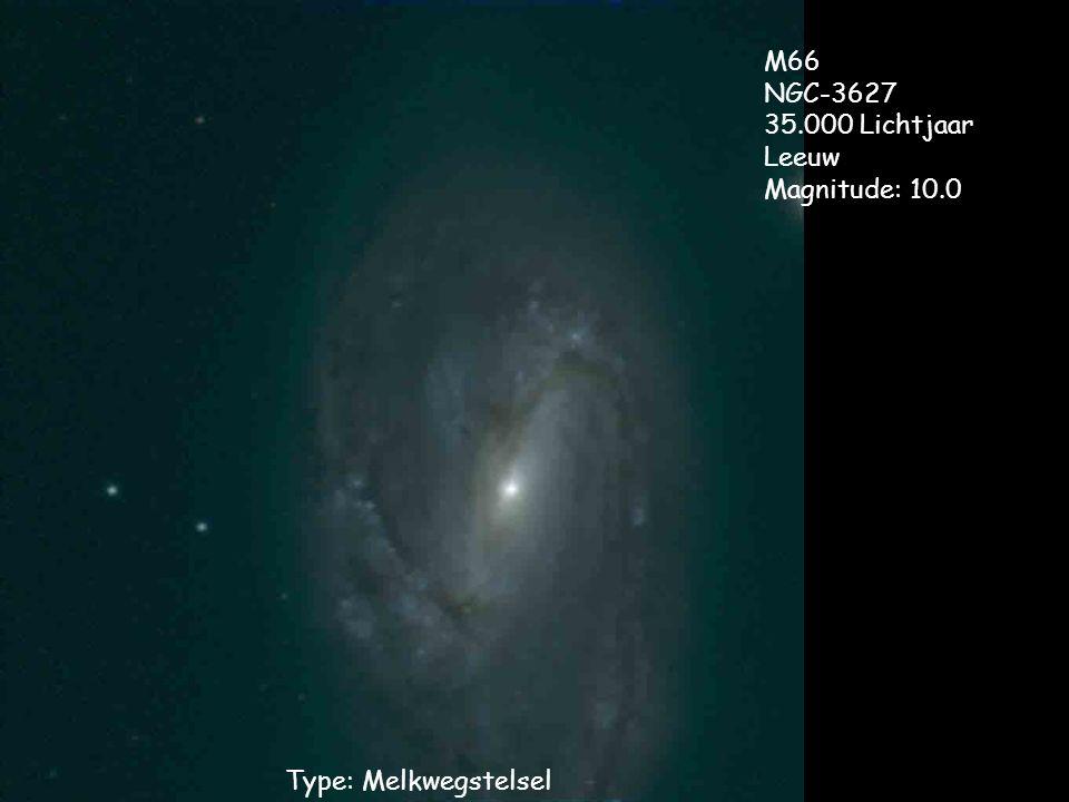 Type: Melkwegstelsel M66 NGC-3627 35.000 Lichtjaar Leeuw Magnitude: 10.0