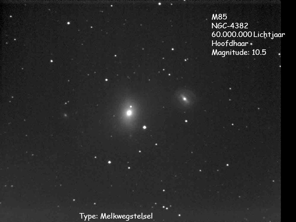 Type: Melkwegstelsel M85 NGC-4382 60.000.000 Lichtjaar Hoofdhaar Magnitude: 10.5