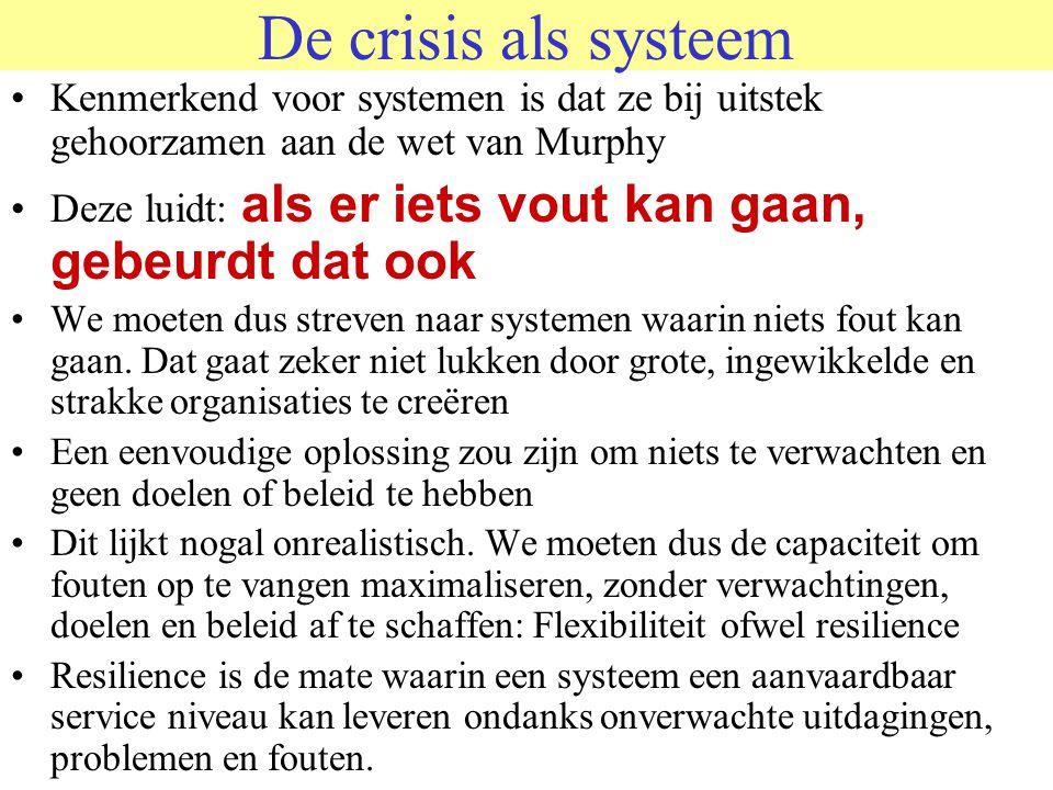 ÉÉN SYSTEEM?? Het lijkt alsof er twee systemen zijn –Het CM (crisismangement) systeem –het slachtoffersysteem Dit is zeer misleidend, want –Het CM sys