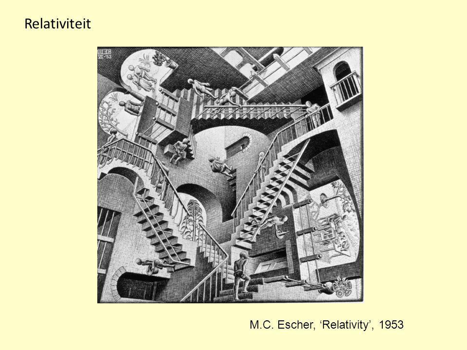 M.C. Escher, 'Relativity', 1953 Relativiteit