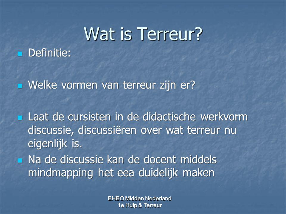 Wat is Terreur.Er zijn verschillende definities van Terreur.