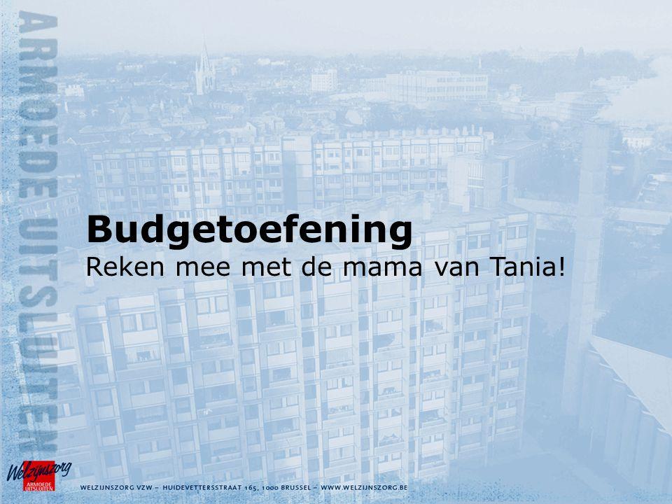 Budgetoefening Reken mee met de mama van Tania!