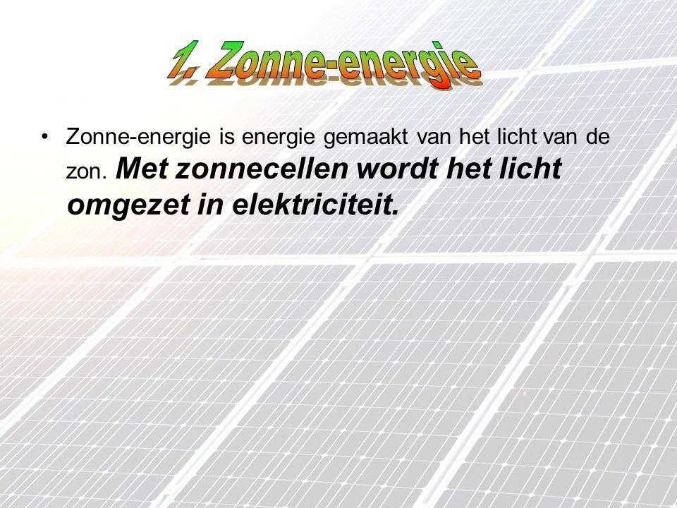 Zonne-energie is energie gemaakt van het licht van de zon.