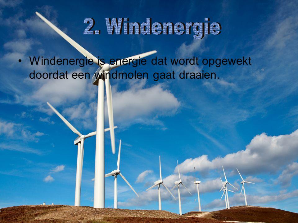 Windenergie is energie dat wordt opgewekt doordat een windmolen gaat draaien.