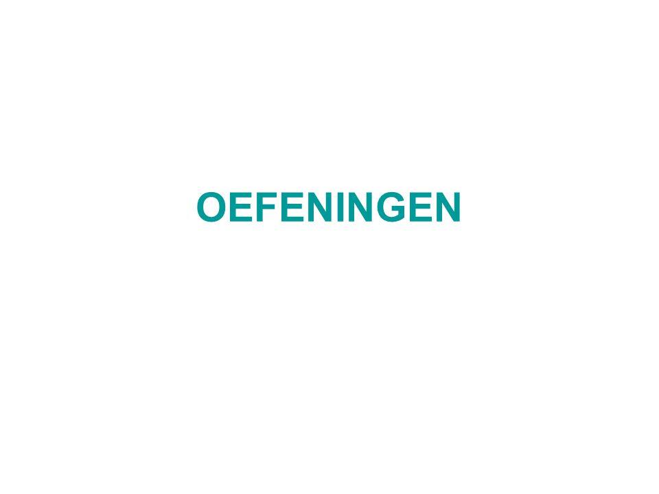 OEFENINGEN