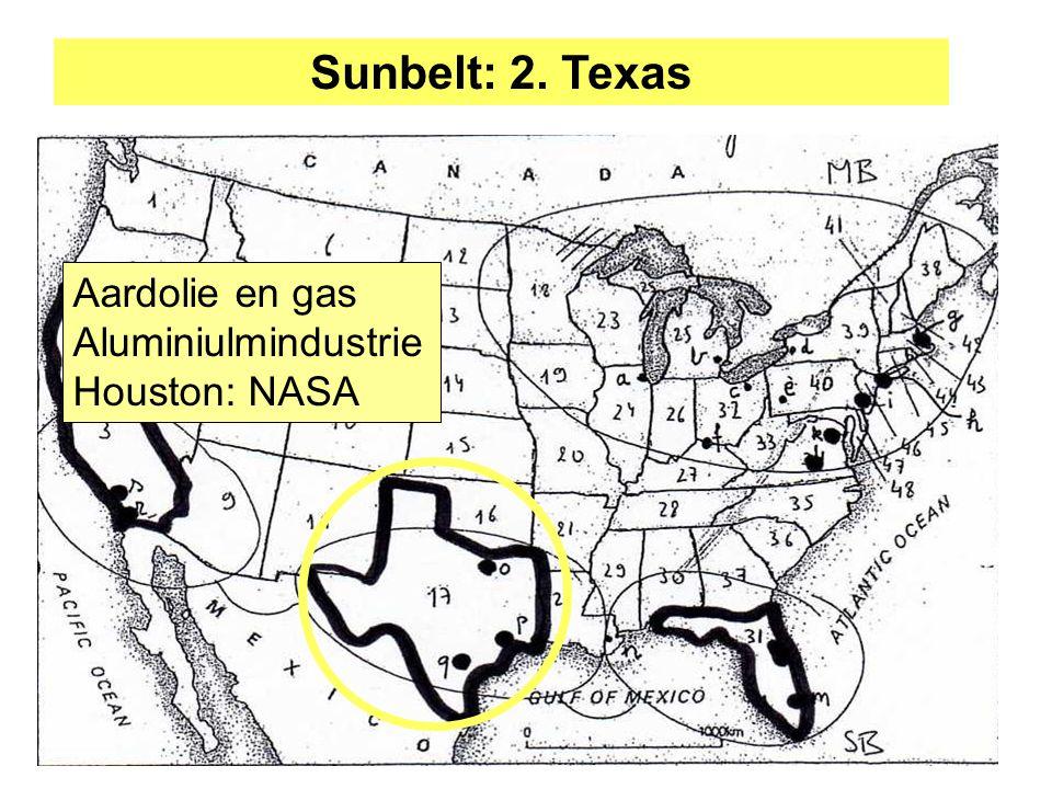 Sunbelt: 2. Texas Aardolie en gas Aluminiulmindustrie Houston: NASA