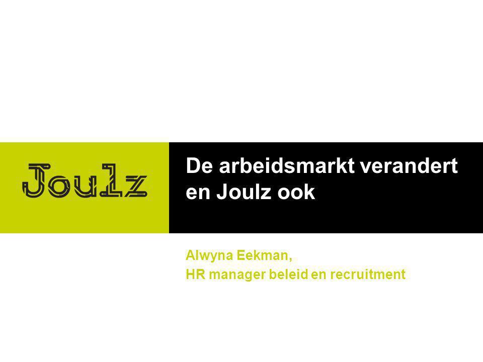 De arbeidsmarkt verandert en Joulz ook Alwyna Eekman, HR manager beleid en recruitment