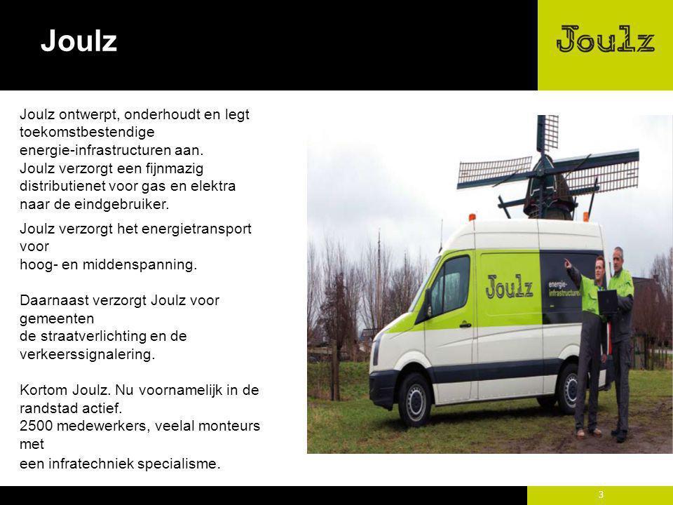 3 Joulz ontwerpt, onderhoudt en legt toekomstbestendige energie-infrastructuren aan. Joulz verzorgt een fijnmazig distributienet voor gas en elektra n
