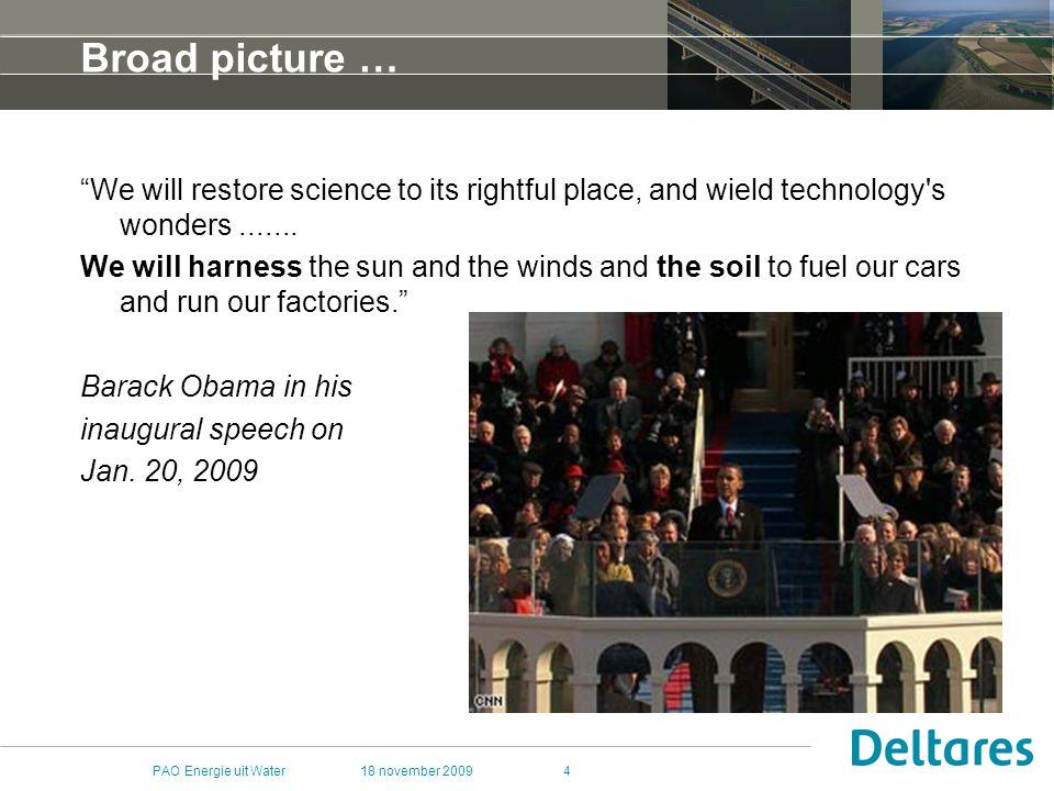 18 november 2009PAO Energie uit Water45 Wat is geothermie.