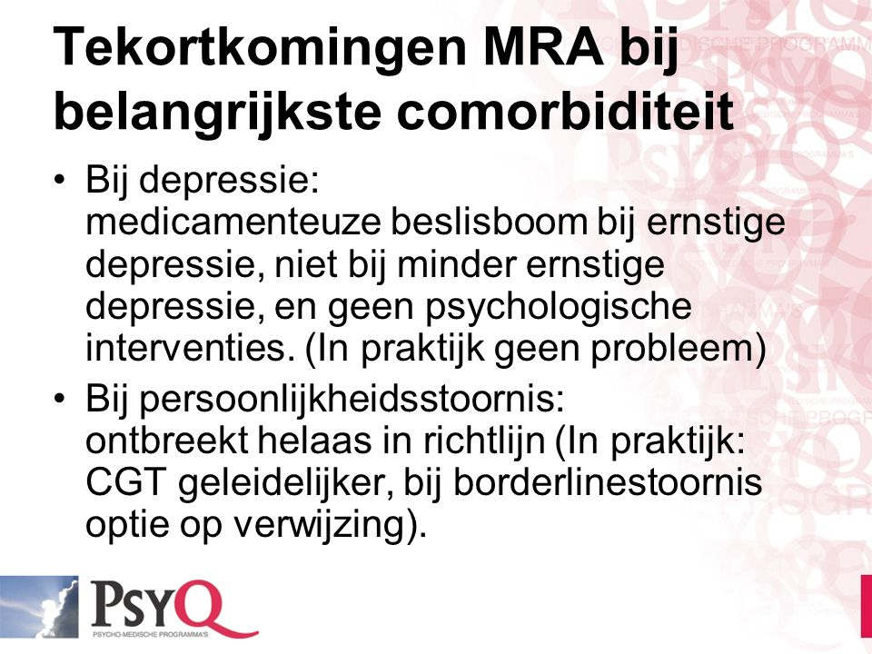 3) Bij medicatie switchen of combineren.
