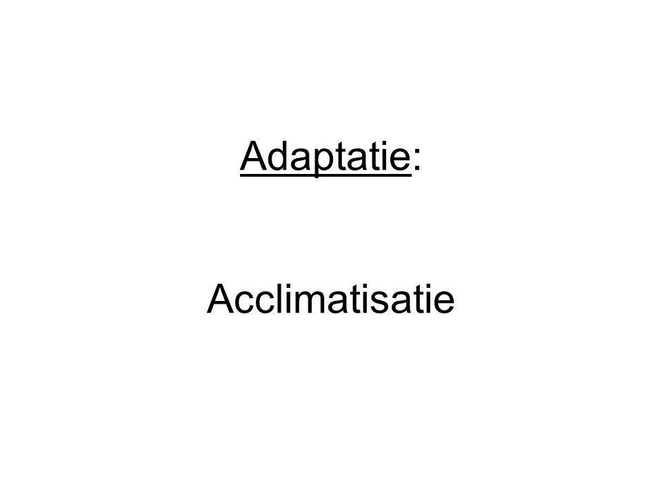 Adaptatie: Acclimatisatie